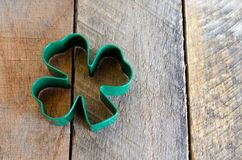 Four Leaf Clover on Pallet wood Royalty Free Stock Photo