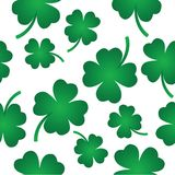 Four leaf clover pattern Royalty Free Stock Images