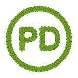 A Four Leaf Clover of Public Domain Sign Stock Image