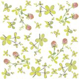 Four leaf clover seamless background. Stock Images