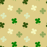 Four leaf clover seamless pattern background illustration Royalty Free Stock Image