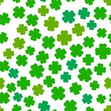 Four leaf clover seamless pattern Stock Image