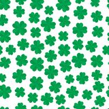 Four leaf clover seamless pattern Stock Images