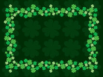 Four Leaf Clover or Shamrock Border Frame Royalty Free Stock Photo