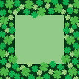 Four Leaf Clover or Shamrock Frame Royalty Free Stock Image
