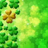 Four Leaf Clover Shamrock Leaf Bokeh Royalty Free Stock Photography