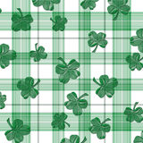 Four-Leaf Clover Shamrock Plaid Stock Image