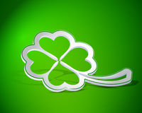Four-leaf clover shape from paper Royalty Free Stock Image