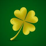 Four leaf clover. St. Patricks day symbol Royalty Free Stock Images