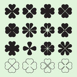 Four leaf clover symbol Royalty Free Stock Images