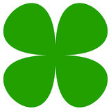 Four-leaf clover symbol. Simple flat icon for luck, lucky concept stock illustration