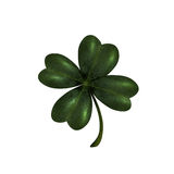 Four-leaf clover. The symbol of St. Patrick s Day. Isolated on white background . Vector illustration Royalty Free Stock Photos