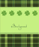 Four leaf clover textile label. Background Royalty Free Stock Images