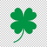 Four leaf clover vector icon. Clover silhouette simple icon illustration. royalty free illustration