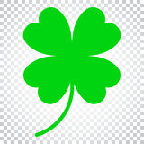 Four Leaf Clover Vector Icon. Clover Silhouette Simple Icon Illustration. Simple Business Concept Pictogram On Isolated Stock Photos