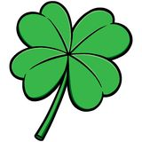Four Leaf Clover. A vector illustration of a Four Leaf Clover Stock Photos