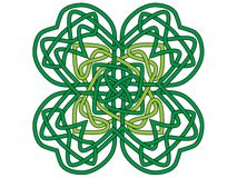 Four-leaf clover, vector ornament Royalty Free Stock Photography