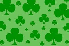 Four Leaf Clovers. Different sized four leaf clovers over a lighter green background vector illustration