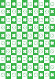 Four leaf clovers background Stock Images