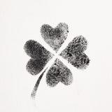 Four-leaf Irish clover. Stenciled four-leaf Irish clover - graffiti style raster illustration Royalty Free Stock Photos