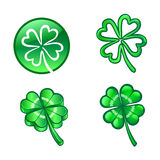 Four leaf lucky clover royalty free stock photography