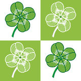 Four leaf seamless. A luck four leaf seamless - vector illustration. You can use it to fill your own background Royalty Free Stock Photos