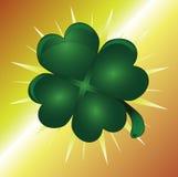 four leaf szczęście koniczynę Obraz Stock