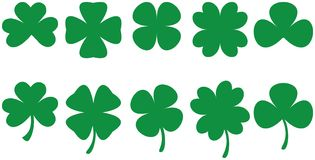 four leafa shamrocks 3 Zdjęcia Royalty Free
