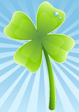Four-leafs clover. Vector illustration of a four-leafs clover stock illustration