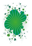 Four-leafs clover background Stock Photography