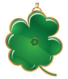 Four-leafs clover pedant Stock Image