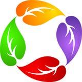 Four leafs logo Stock Photos