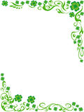 Four-leaved clover frame background. The background of four-leaved clover frame with copy space in the middle Stock Photo