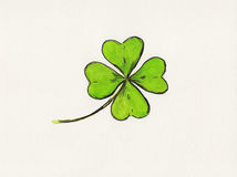 Four leaved clover painting Stock Image