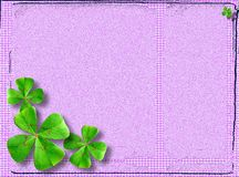Four-leaved clover postcard Royalty Free Stock Images