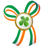 Four leaves clover badge Royalty Free Stock Photo