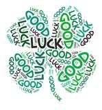 Four leaves clover good luck royalty free stock images
