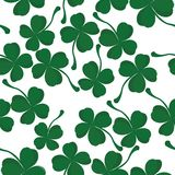 Four leaves clover pattern stock images