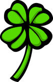Four leaves clover or shamrock vector illustration. Vector illustration of a shamrock or clover with four leaves Royalty Free Stock Image