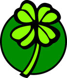 four leaves clover or shamrock vector illustration Royalty Free Stock Photography