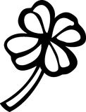 Four leaves shamrock or clover vector illustration Stock Image