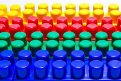 Four Lego dice Royalty Free Stock Images