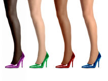 Four legs standing wearing high heel shoes. Royalty Free Stock Image