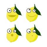 Four lemon emoticons royalty free illustration