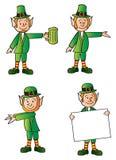 Four Leprechauns Stock Images