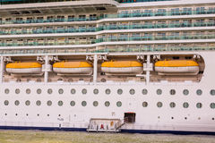 Four Life Boats on Luxury Cruise Ship Royalty Free Stock Photography