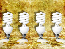 Four light bulbs Royalty Free Stock Images