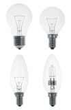 Four Light bulbs Stock Images