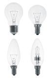 Four Light bulbs Stock Images