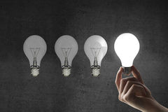 Four lightbulb Royalty Free Stock Photography